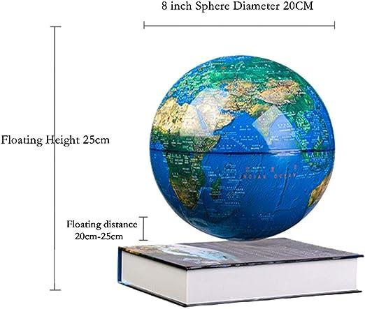 Bayda Globo Electr/óNico Antigravedad Mapa del Mundo de Globo Flotante de Levitaci/óN Magn/éTica con Luz LED Aprendizaje de los NiiOs Enchufe de la UE