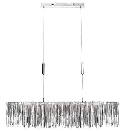 Lámpara Colgante Moderna, LED, Sube y Baja, en Cromo, con ...