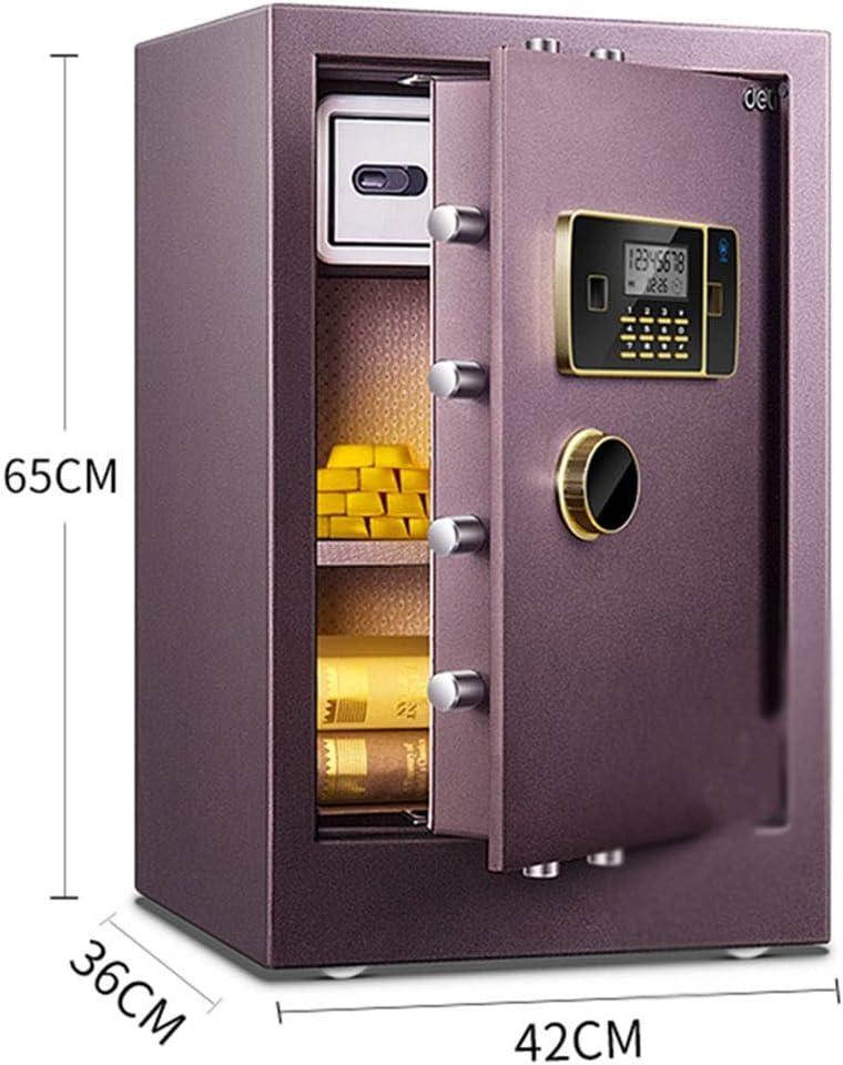 Caja fuerte Caja de Seguridad pequeña Dormitorio Mesa de Noche Oficina Arma de Seguridad, Alarma de vibración (Color : Brown, Size : 42 * 36 * 65cm): Amazon.es: Hogar