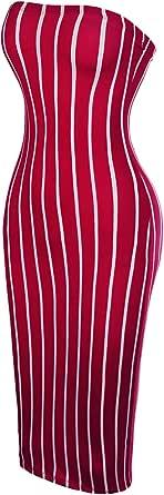 Beyondfab Women's Camouflage Strapless Bodycon Tube Dress