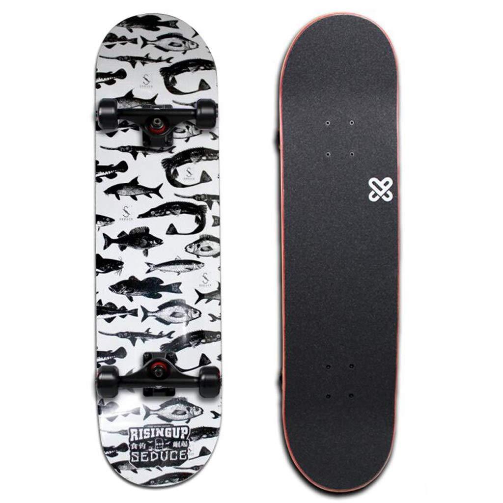 【メーカー直売】 HBJP スケートボード全道路四輪スケートボードプロフェッショナルボードダブルアップスケートボードファンシー、滑らか、ダンス スケートボード :、フリースタイル スケートボード (色 : (色 A) B07H9WJYMW A, OPEN キッチン:8aced216 --- a0267596.xsph.ru