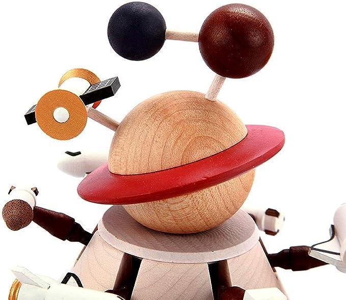 Caja de musica Dibujos Animados De Madera Maciza Nave Espacial ...