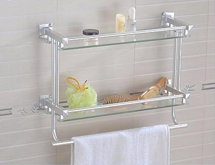 Yomiokla Accesorios de Baño Toalla de Metal para Cocina, Inodoro, Balcón y Bañodoble acristalamiento