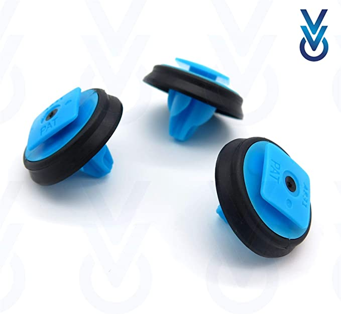 VVO Fasteners Plastic Interior Side Trim Clips Pack of 10 Blue