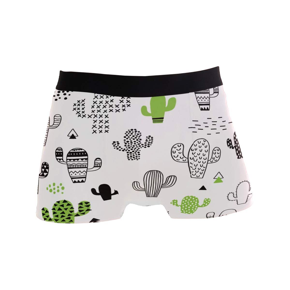 Wamika Cactus Men/'s Boxer Briefs Green Plant Underwear Stretchable S-XL