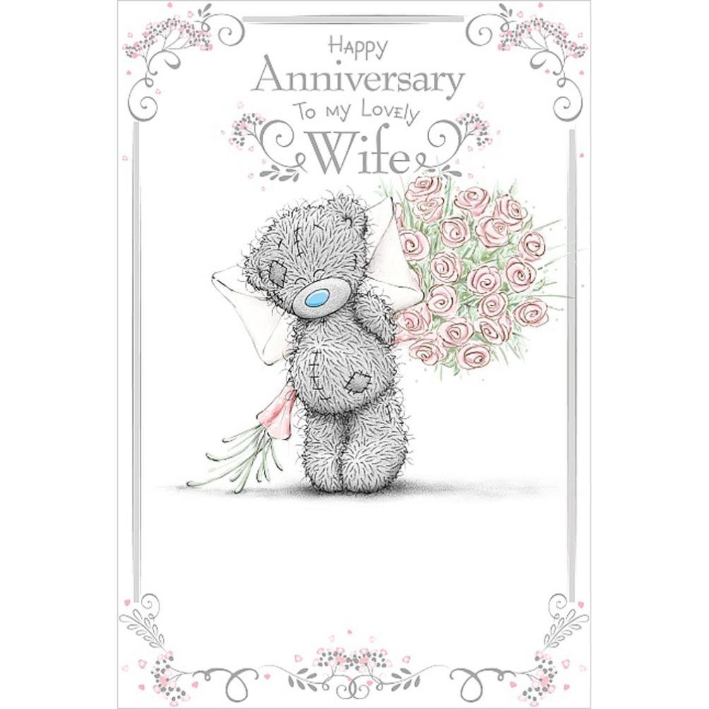 Me to You Wife Wedding Anniversary Card Carte Blanche