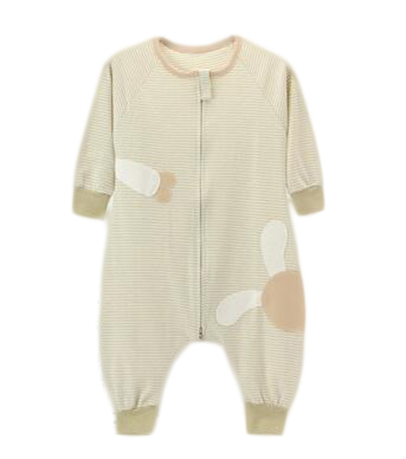 OUCHI Baby Organic Cotton Sleeping Bags Front Zipper Sleep Sack for Toddlers Green