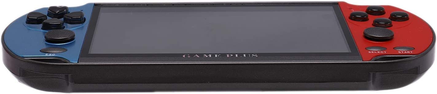 Rojo + Azul LQNB Consola de Juegos Port/áTil X7 Plus de 5,1 Pulgadas Consola de Videojuegos MPG HD 8G Retro Family 4K TV-out 4K