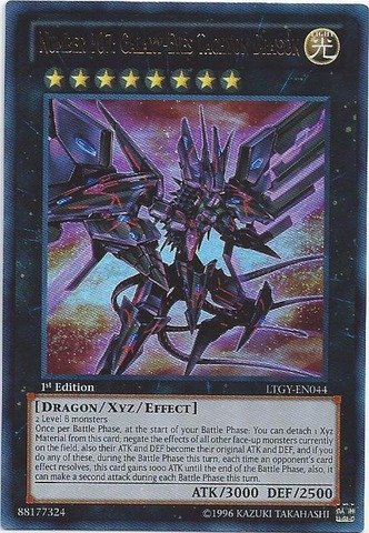 (Yu-Gi-Oh! - Number 107: Galaxy-Eyes Tachyon Dragon (LTGY-EN044) - Lord of the Tachyon Galaxy - Unlimited Edition - Ghost Rare)