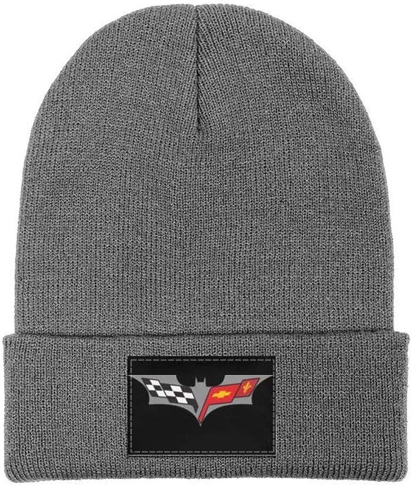 Wool Beanie Cap Knit Caps Fine Knit Beanie HatsSlouch sdfjkoinj Men Corvette-Logo-Symbol