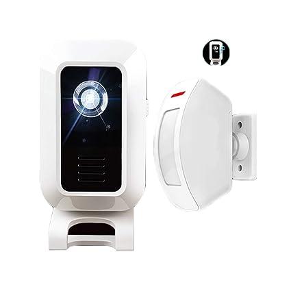 WSXX Timbre inalámbrico de división, Sensor, Alarma contra ...