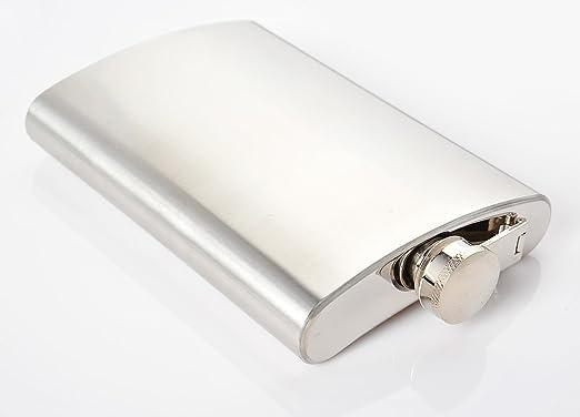 2 opinioni per Monumentum Fiaschetta di acciaio inossidabile Silver 7 oz. (210 ml), tappo a