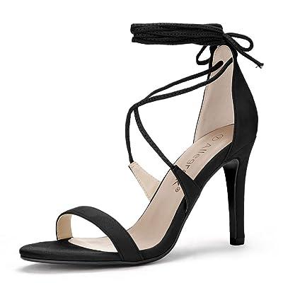 Allegra K Women's Stiletto Heel Lace-up Sandals | Heeled Sandals