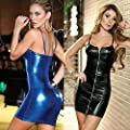 Sexy lingerie , Kinghard Women Jumpsuits Clubwear Stripper Patent Leather Underwear