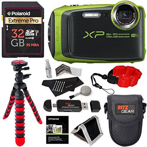 Fujifilm FinePix XP120 Waterproof Digital Camera - Lime, Pol
