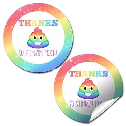Amazon.com: Rainbow caca Emoji fiesta de cumpleaños ...
