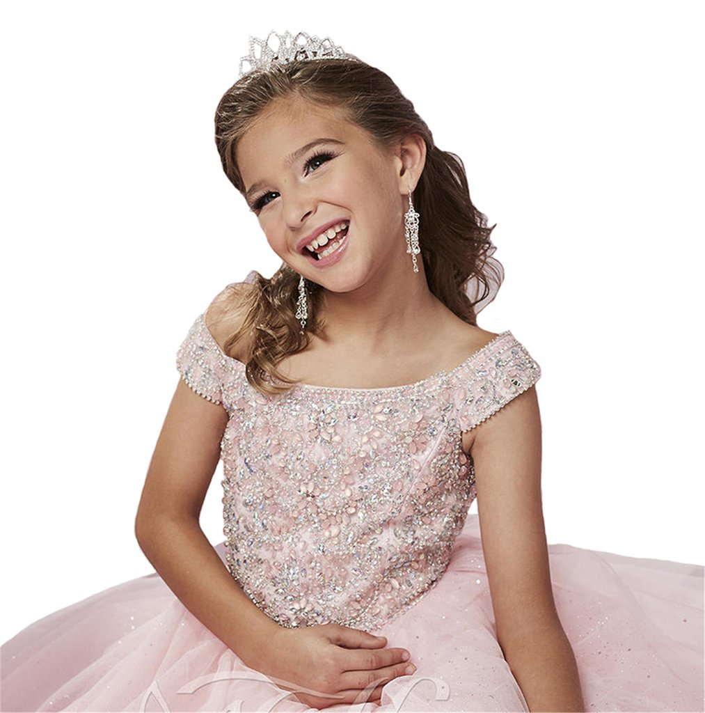 Yang New Flower Girl's Sequins Pink Ball Gowns Kids National Pageant Dresses 14 by Yang (Image #2)