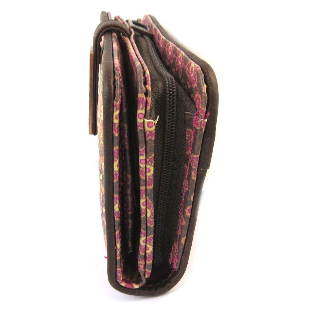 Cartera Mundide la vendimia marrón rosado ()- 15.5x9x3 cm.: Amazon.es: Equipaje