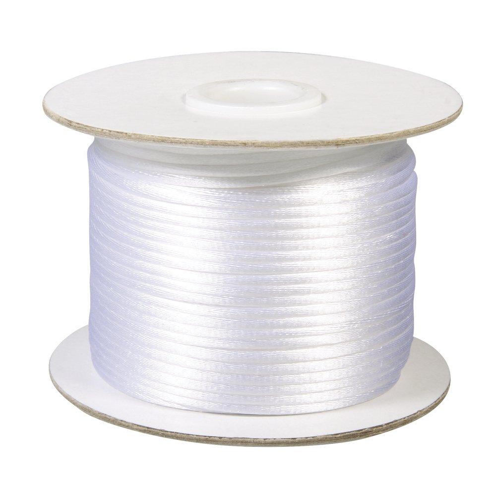 RAYHER HOBBY 5137502 sat/én cord/ón Blanco 2 mm de di/ámetro Rollo de 50 m