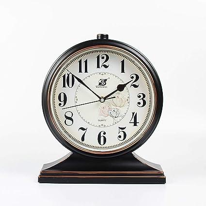 Relojes Retro Europeos Reloj de Mesa de Estilo Americano Reloj de péndulo Creativo Reloj de Mesa
