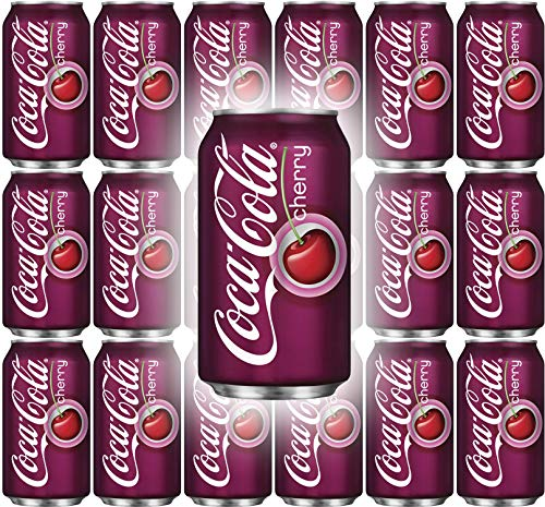 Coke Cherry Flavor, 12 Oz Can (Pack of 18, Total of 216 Fl Oz) (Cola Cherry Coca)
