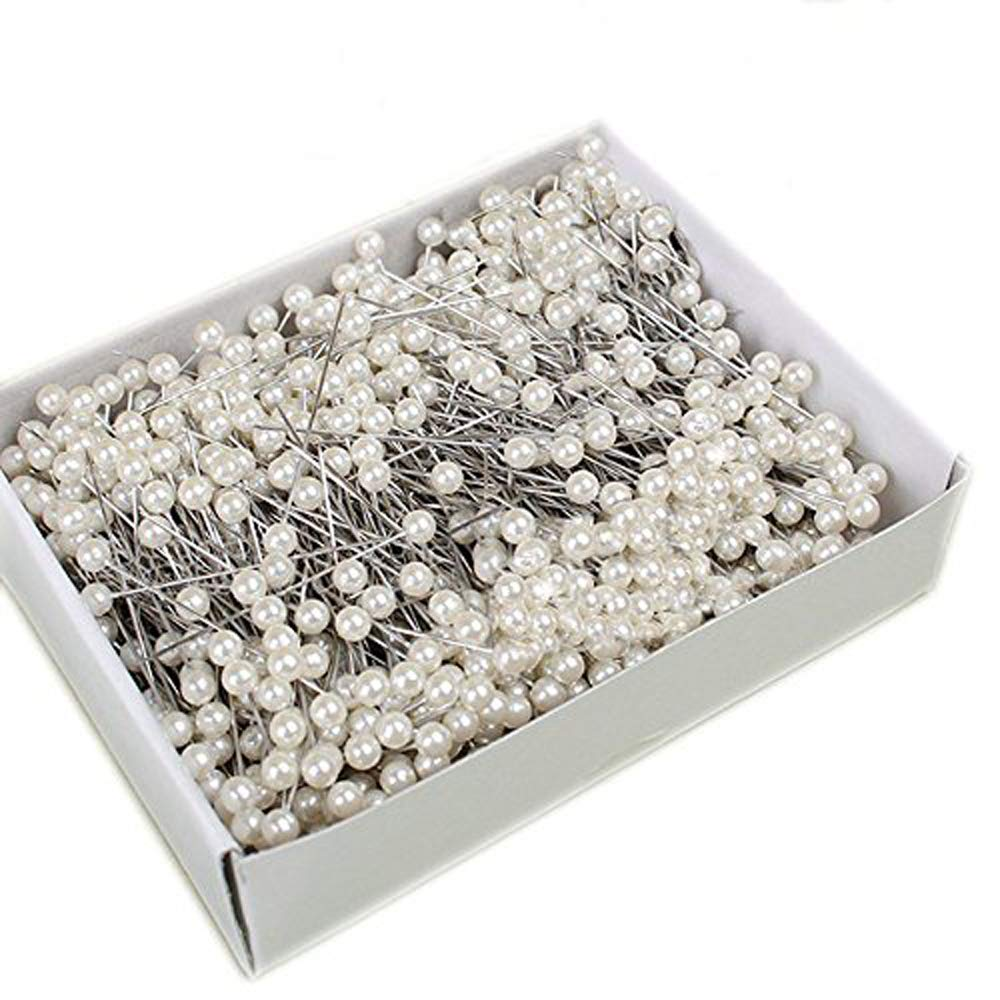 Soochat Pearlized Ball Head Pins,Straight Head Pins,Corsage Florists Sewing Pin for Wedding Flowers Buttonholes Corsages Floral Craft 200PCS