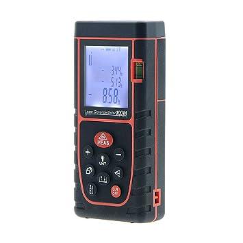 Digital medidor láser de distancia 100 m 328 pies Handheld telémetro con infrarrojos de alta precisión electrónica instrumento de medida Diastimeter: ...