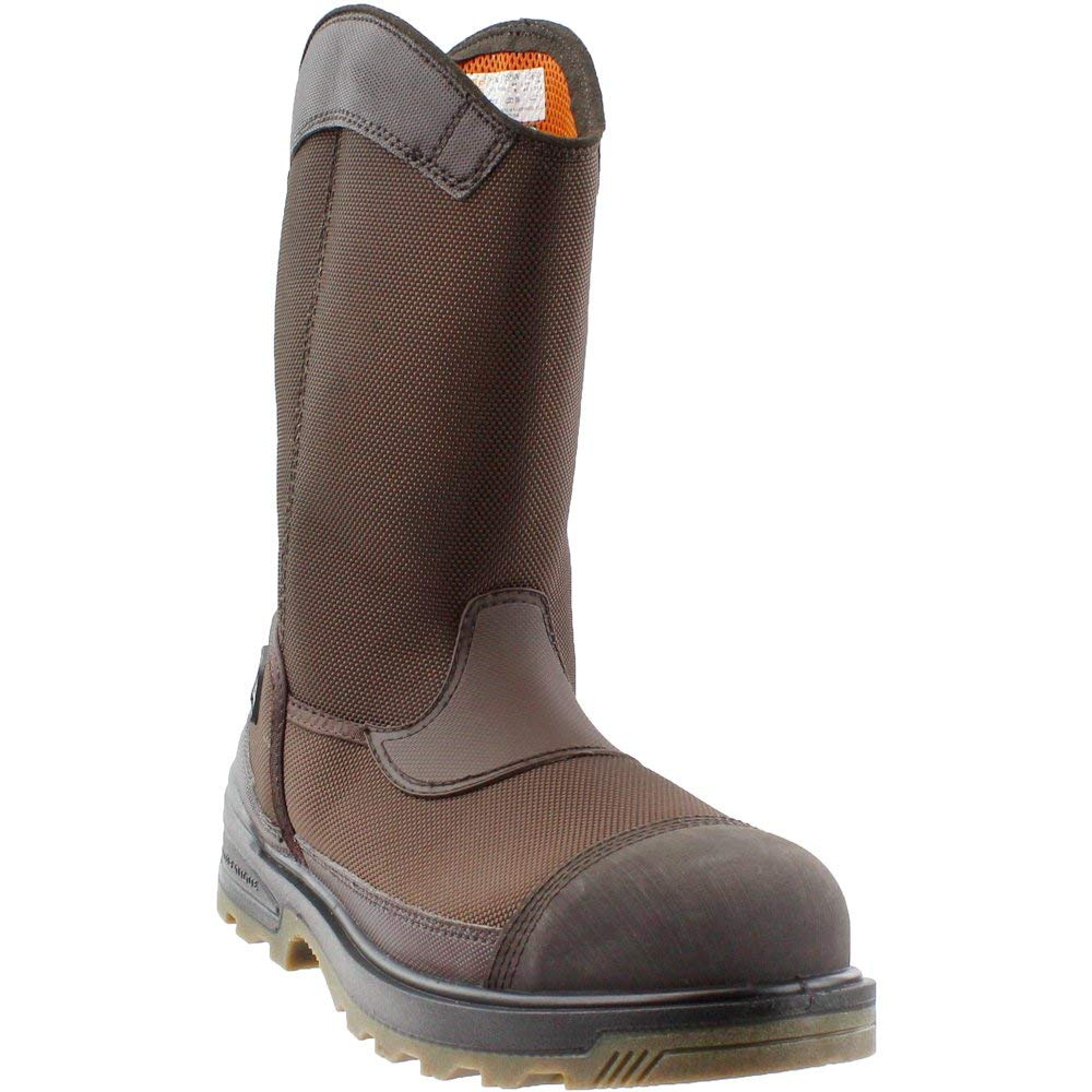 Timberland PRO Men's Mortar Pull-On CSA Comp Toe Waterproof Work and Hunt Boot, Brown Ballistic Nylon, 7.5 W US