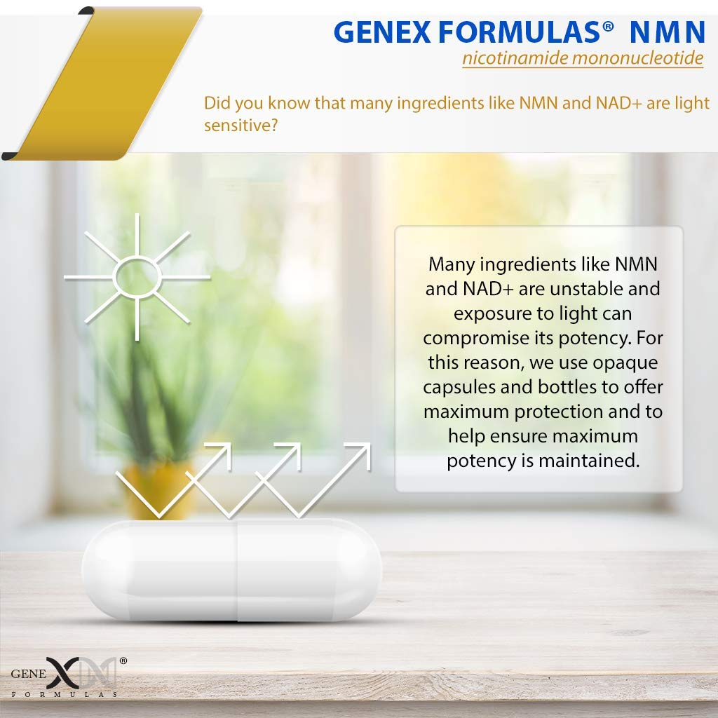 NMN 250mg Serving 3Pack Nicotinamide Mononucleotide Direct NAD+ Supplement, Anti Aging DNA Repair & Healthy Metabolism (2X 125mg caps 60 ct per Bottle) by Genex Formulas (Image #7)