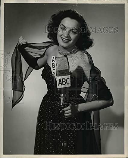 1950 Press Photo Vicky Palmer ABC Orchestra