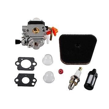 amazon com podoy fs90r carburetor for stihl carb kit fs87 fs90 rh amazon com
