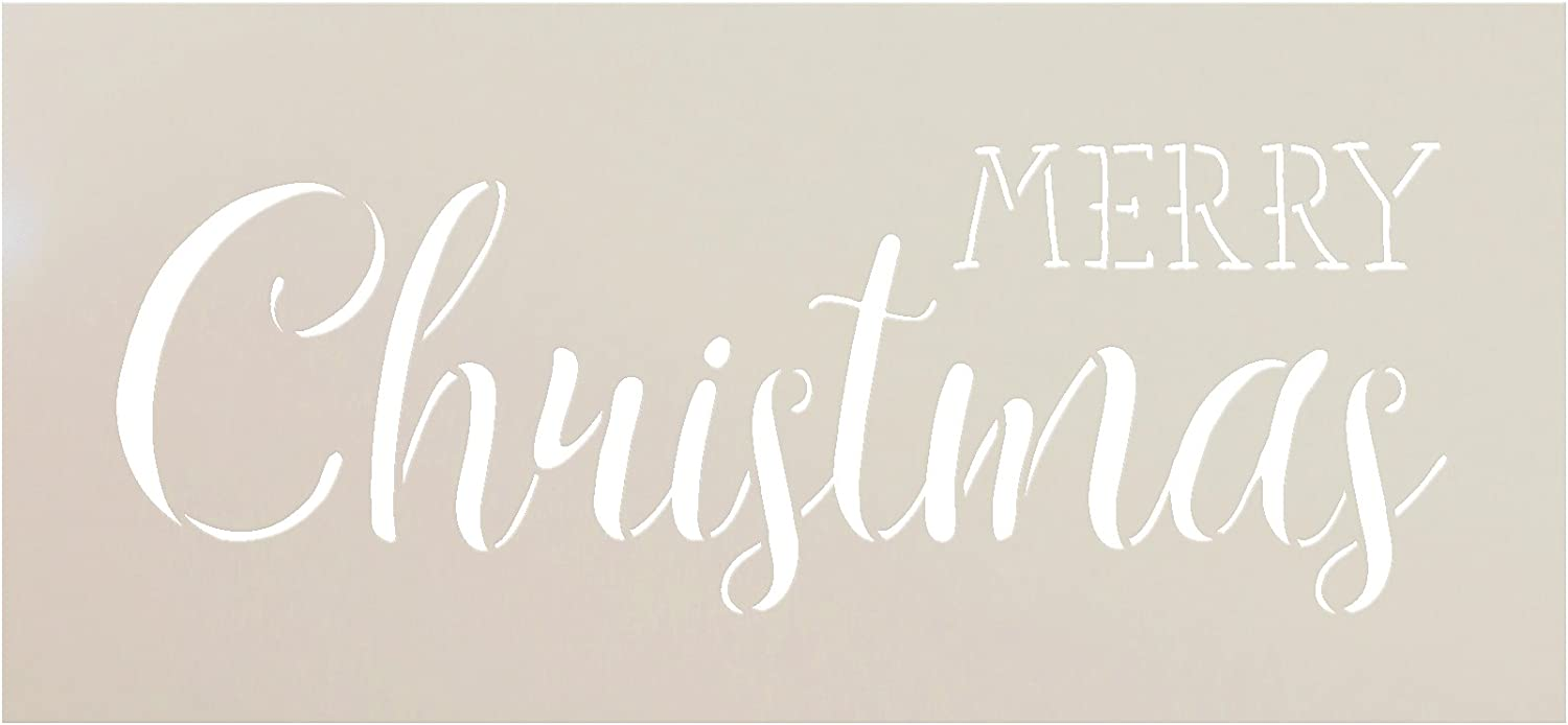 """Merry Christmas Stencil by StudioR12 