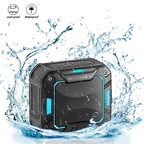 BlitzWolf Mini Bluetooth Speakers Waterproof IP65, 2000mAh