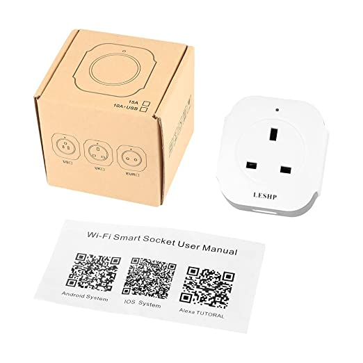 Smart Socket, greenskon WiFi enchufe inteligente Socket Alexa mando a distancia temporizador interruptor de alimentación Socket Outlet Smart Home ...