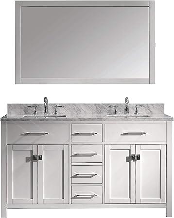 Amazon Com Virtu Usa Caroline 60 Inch Double Sink Bathroom Vanity
