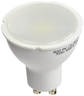 A2BC LED Lighting Bombilla LED 6000K GU10, 8 W, Blanco frío, 10 unidades