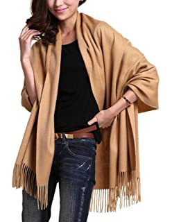 Novawo Extra Large Echarpe cachemire et laine mélangée Châle Etole pour  Femmes Hommes c834d35e413