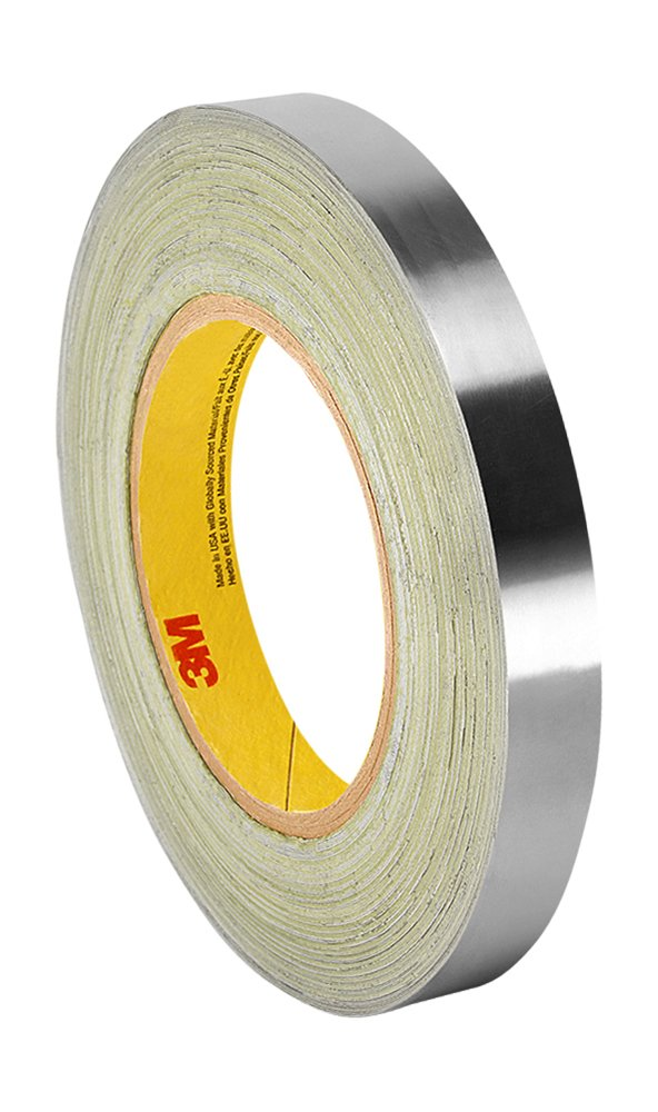 3M 3361 Silver High Temperature Stainless Steel/Acrylic Adhesive Foil Tape, 17.5mm Width x 16.46m Length (1 Roll) TapeCase 3M 3361 0.688 x 18yd