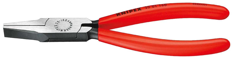 KNIPEX 20 01 180 Flachzange schwarz atramentiert mit Kunststoff ü berzogen 180 mm Knipex-Werk - C. Gustav Putsch KG