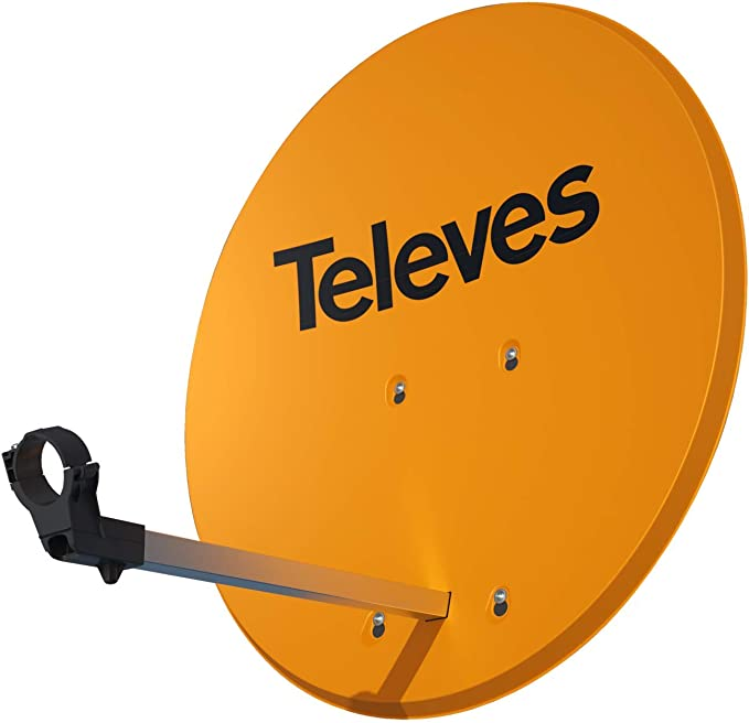 Antena Parabólica Isd 830 De Aluminio En Color Naranja ...