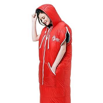 Guo Forma Humana Puede Caminar Alcanzar hacia abajo Saco de Dormir Adulto Cuatro estaciones al aire