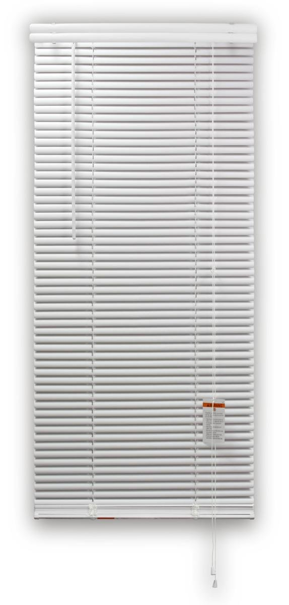 DEZ FURNISHINGS 28064 1-Inch Regular Vinyl Blind, 30-Inch W X 84-Inch L, White by DEZ Furnishings (Image #1)