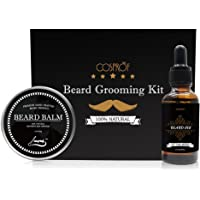Cosprof Beard Oil and Beard Balm Moustache Cream Kit for Men Care,Healthy Moisturizing Moustache Wax Set for Beard Styling