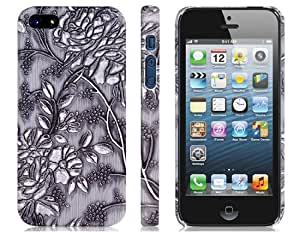 Get 3D Floral Print Plastic Case for iPhone 5