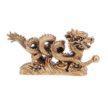 non-brand Sharplace Figurina Drago Tiene Una Palla Feng Shui Cinese ...