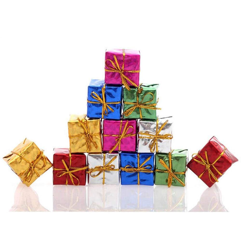 12PC Christmas Tree Hanging Home Office Decor Party Ornament Gift Box Cute Special Party (Multi)