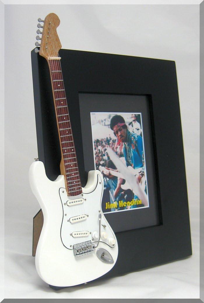 JIMI HENDRIX miniatura Marco de la guitarra Imagen WOODSTOCK