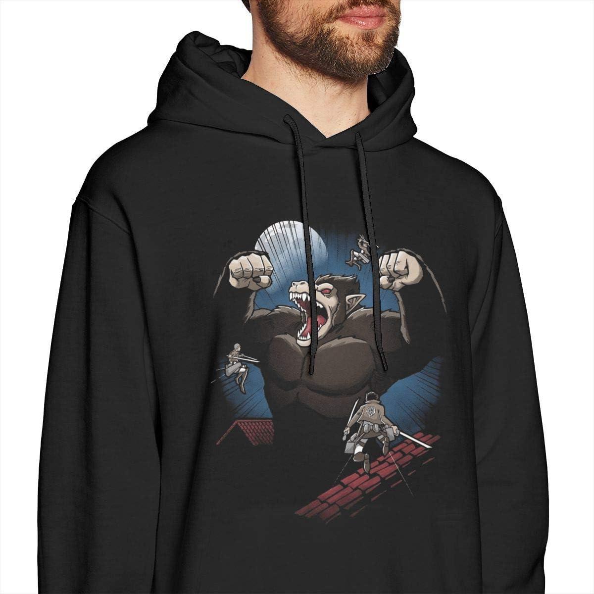 Attack On Titan Shirt Split Herren Pullover Hoodies Rundhals-Langarm-Sweatshirt Schwarz X-large style2