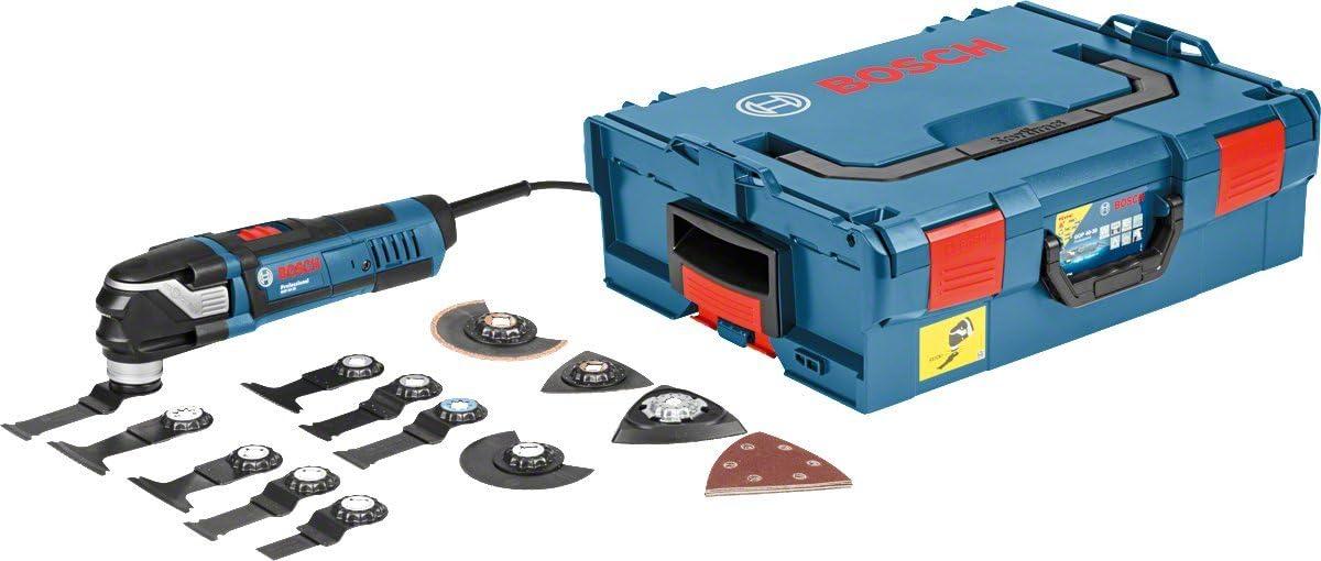 Bosch Professional GOP 40-30 - Multiherramienta (400W, Starlock, set de 16 accesorios, en L-BOXX)