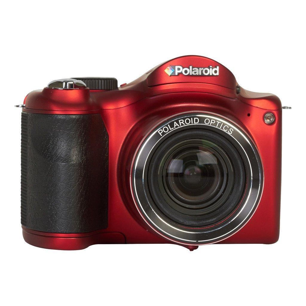 Polaroid IS2634-Red/Kit-AMX 16 Digital Camera with 3-Inch LCD (Black) Sakar